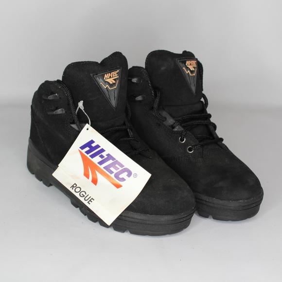 510ba84f708 Vtg New Hi Tec Mens 7.5 Rogue Hiking Boots Black NWT